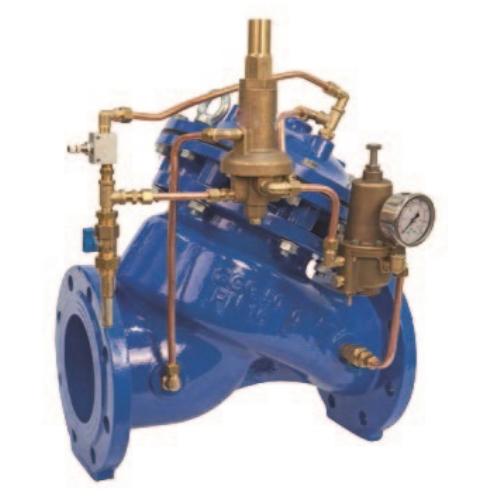регулирующий клапан (регулятор давления воды), регулирующий расход и давление
