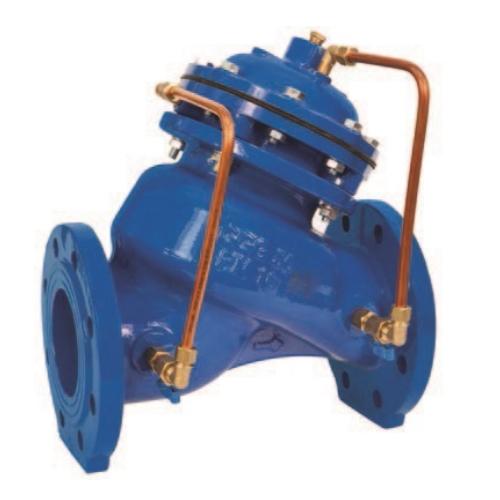 Регулирующий клапан (регулятор давления воды) противогидроударный, обеспечивающий закрытие ИНОТЭК 400-КАРД-25-88
