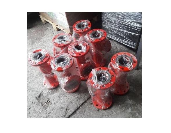 Комплект распределительных коллекторов для насосных станций повышения давления, станций пожаротушения, отопления, водоснабжения, гидромодулей, обвязки чиллеров с покраской в требуемый RAL - со склада в СПб, доставка по РФ