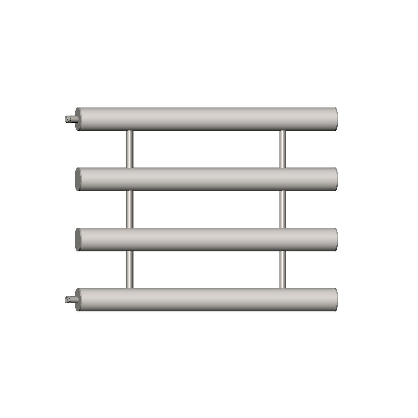 Змеевиковый регистр отопления на 4 секции стальной серии РОС-4х100х1500 для установки в системах отопления производственных помещений.