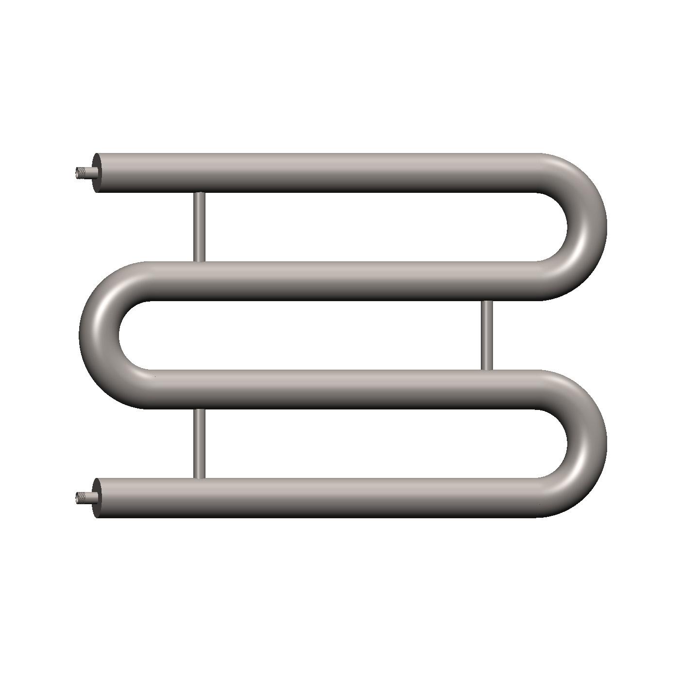 Змеевиковый регистр отопления на 4 секции стальной серии РОЗ-4х65х2500